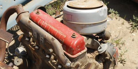 Machine, Gas, Cylinder, Engine, Nut, Fuel line, Rust, Automotive engine part, Pipe, Automotive fuel system,