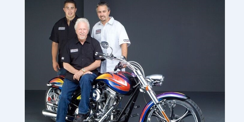 The Quail Motorcycle Gathering in Carmel Valley May 5 will honor three generations of the Ness family, shown here on a Ness motorcycle.