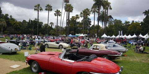 """Over 350 cars sprawled out all over the gigantic lawn at Lacy Park in San Marino for the annual Motor Classic. There was something for every taste, from CCA classics to muscle cars to pony cars to Bantams (Bantams!) to glorious Ferraris and Astons Martin. As organizer Aaron Weiss said, ''Some days you wake up and everything is great!"""""""