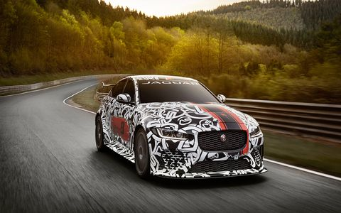Jaguar's most powerful sedan to date will pump out 600 hp, courtesy of SVO's supercharged 5.0-liter V8.