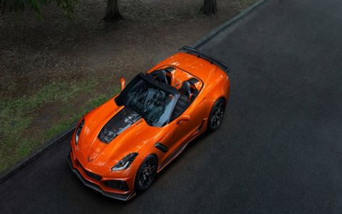 Chevrolet dropped the top on the ZR1 ahead of the LA Auto Show. With a 755-hp LT5 6.2-liter V8, it hits a top speed of 212 mph.