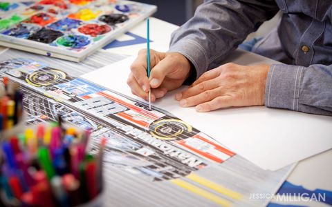 The work of NASCAR-licensed artist Sam Bass. Several of Bass' proposed NASCAR Sprint Cup liveries for Jeff Gordon over the years never reached the track.