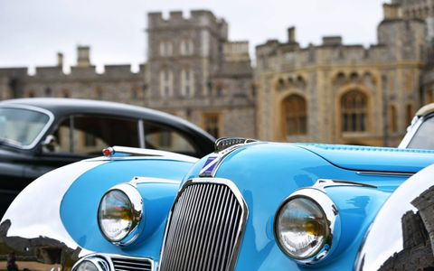 The Concours of Elegance has been held every year at a different Royal Palace in the UK. This year it returned to the site of its first Concours five years ago, Windsor Castle. Sixty cars celebrated inside the official Concours whilst (like the Britishism?) 1000 parked outside. Jolly good, what?