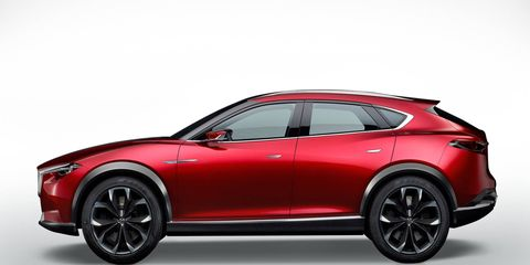 Mazda previewed its future family of crossovers with the Koeru concept in 2015.