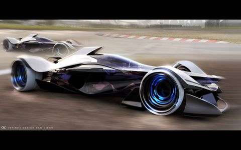 The first stage is a Formula 1 car.