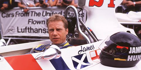 David Hunt, brother to F1 champion James, died Sunday night in his sleep. Hunt is shown in his brother's car in 2001 at the Goodwood Festival of Speed.