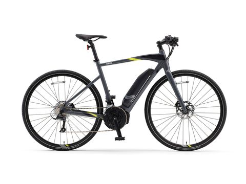 The Yamaha CrossCore electric bicycle will go 44 miles at full tilt discharge, farther if you crank the ride mode down from High output to ECO. Even without the electric component it's still a very efficient bicycle in pure pedal mode. Price is $2399 - a good deal by electric bike standards.