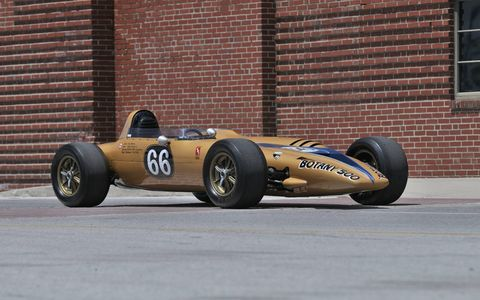 This particular Shelby Turbine Indy Car was driven by Bruce McLaren.