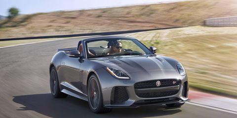 The 575-hp Jaguar F-Type SVR will debut at the Geneva Motor Show.