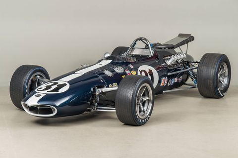 Los Angeles was the perfect petri dish for race car development. The Petersen Automotive Museum will celebrate 12 different LA-built race cars at a new exhibit that runs through December 2019. The exhibit includes Dan Gurney's All America Racers. This is 1966  AAR  Eagle  #31