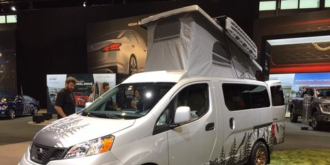 The winner for cutest camper ever goes to... the Recon Envy! Here it is on the show floor in Chicago.