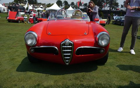 This year's Concorso Italiano celebrated Ferrari's 70th, Maserati Ghibli's 50th and designer Ken Okuyama's new Kode O one-off supercar. In addition, the usual suspects showed up, including many, many modern Lamborghinis, Ferraris and a satisfying stable of Alfas, Lancias and Fiats. Molto bene!