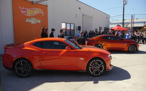 Chevy introduced two Camaros yesterday, ahead of next week's SEMA show: A Hot Wheels 50th Anniversary model and the 2018 COPO Camaro drag car.