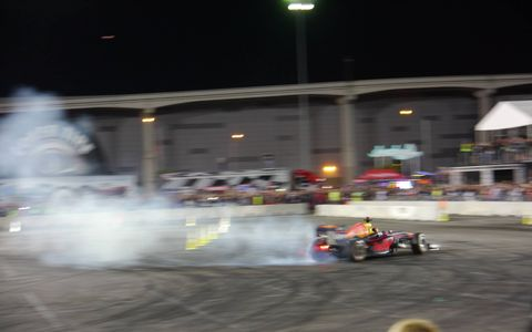 SEMA closes out the week with class: a cruise, a party and Max Verstappen doing donuts