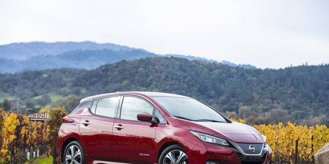 The 2018 Nissan Leaf is quicker and goes farther, with a new range of 150 miles on a more potent battery that fits in the same space. Prices start at $30,885.