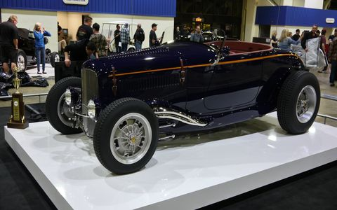 Architect David C. Martin (just look at the skyline of downtown L.A. to see his work) won America's Most Beautiful Roadster at the Grand National Roadster Show with this beautiful 1931 Ford Model A. Congratulations!