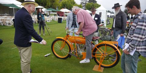There were over 350 bikes on the lawn at The Quail Motorcycle Gathering. Here are a few more. This was the Best of Show-winning 1913 Flying Merkel of Douglas & Marian McKenzie.