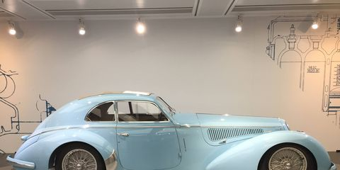 The Alfa Romeo Museo Storico was completely redone and opened again in 2015. If you thought you might have loved Alfas before, you will know it for sure when you step inside this building 10 miles outside Milan, Italy. There wasn't a car in there that you wouldn't love to drive. This is a 1938 2800 8C.
