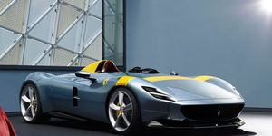 "The Ferrari Monza SP1 and SP2 are both roofless ""barchettas."" One seats one, the other seats two."