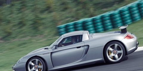 The Porsche Carrera GT is powered by a 5.7-liter V10 making 612 hp and 435 lb-ft of torque.