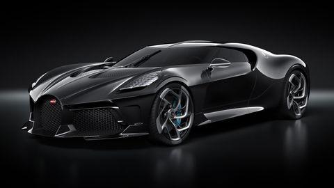 The Bugatti La Voiture Noire made its debut at the Geneva auto show.