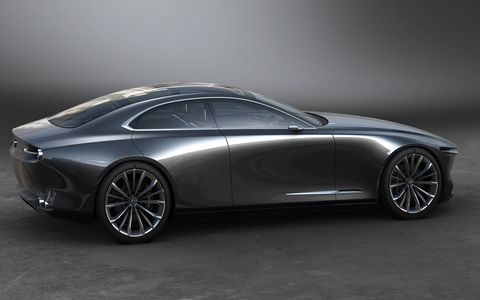 Mazda unveiled its Vision Coupe concept ahead of the 2017 Tokyo motor show, pointing at the brand's aspirations to move upscale