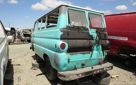 Because it's a California van, there isn't any serious rust.