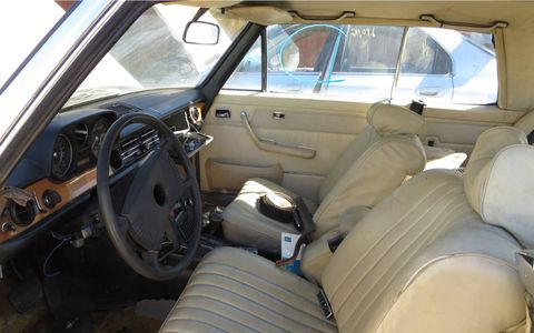 The interior is a little battered, but it's not too bad for a 41-year-old car.