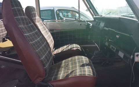 The plaid interior was very much of its time and place (i.e., Indiana in 1979).
