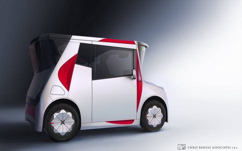 Chris Bangle revealed his first car in eight years: the REDS. It's an electric car made for sitting in traffic in China with friends, as near as we can tell. Bangle's press material was long on designerese and short on specifics. Nonetheless, the funky shape could be sitting on Chinese streets soon.