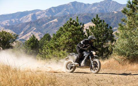 The 2017 Zero DSR is an adventure bike powered by electricity. It has your choice of 13-kWh or 16.3-kWh Li Ion battery sizes powering a 70-hp, 116-lb-ft electric motor. Zero says range goes as far as 184 miles per charge in city driving. Pricing is $15,995 for the smaller battery and $18,950 for the big box. .