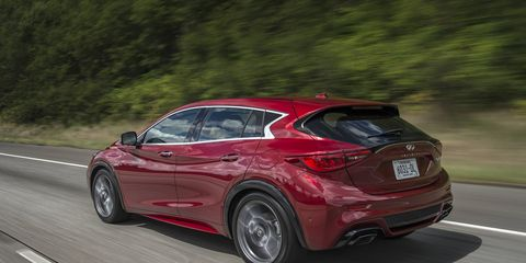 The 2018 Infiniti QX30 comes with a turbocharged 2.0-liter four-cylinder engine making 208 hp.