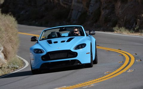 The Aston Martin V12 Vantage S is available as a coupe and roadster.