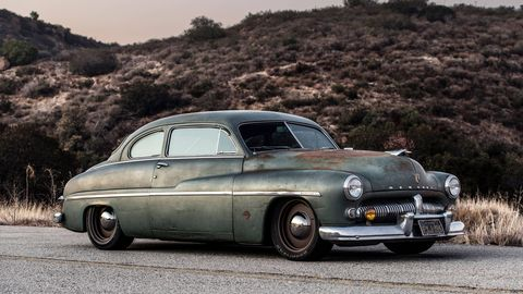 This 1949 Mercury Coupe 'Derelict' by California's Icon combines vintage style, perfect patina and cutting-edge technology: It's powered by a fully electric drivetrain. It promises a top speed of 120 mph, and should have a range of 150-200 miles. The one-off car debuted at the 2018 SEMA show in Las Vegas.