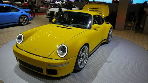 German carmaker and tuner RUF introduced two new models at Geneva, the CTR Anniversary and the 991.2 GTS-based RUF GT.