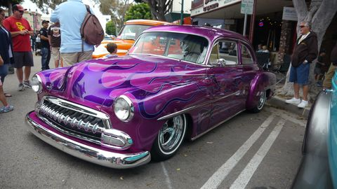 Doug Vaughn's grape fate had purple flames on purple paint.