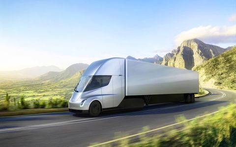 The Tesla Semi can hit 60 mph in a remarkable-for-a-big rig five seconds. It'll go into production in 2019.