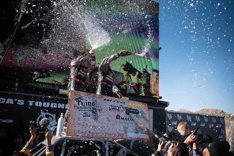 Scherer celebrates victory