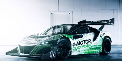 Check out the Pikes Peak ready Acura NSX EV Concept in all its winged glory.
