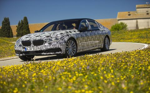 We're among the first to test drive the new BMW 7-series full size luxury sedan, here in prototype form.