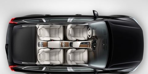 The 2016 Volvo XC90 Excellence features a redesigned rear passenger compartment.