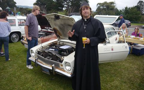 This guy claimed the Pinto wagon had saved its occupant several times and was therefore blessed and all who looked upon it would be granted one day less in Purgatory. The ski area? Is that blasphemous?