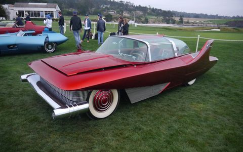 """The rest of the field was a mixture of cool Ferraris, goofy Ferraris and wacky """"American Dream Cars of the '60s."""" Here are a few."""