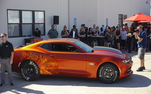 The 2018 COPO Camaro drag car is meant to compete in NHRA's stock eliminator classes.
