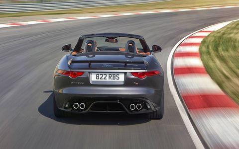 The 575-hp Jaguar F-Type SVR will debut at the Geneva Motor Show.w.