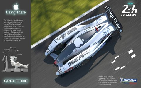 A total of 22 finalists were chosen from more than 1,600 entries representing 80 countries. Over 16 years,  the Michelin Challenge Design  has received 9,901 entries from 123 countries. The mandate this year to young designers: Create a vehicle for the 2030 24 Hours of Le Mans. Here's a sampling of designs turned in by some of the finalists.