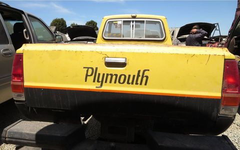 Plymouth used to be a well-known truck brand, but that ended with this truck, the 1981 Plymouth Trailduster SUV, and 1983 Plymouth Voyager full-sized van (not to be confused with the later Voyager minivan).