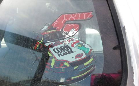 This much-faded sticker appears to be Terry Labonte's mid-1990s Monte Carlo.