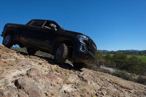Sierra AT4 includes a 2-inch factory-installed suspension lift.