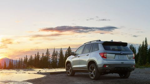 The 2019 Honda Passport gets a 280-hp V6 and goes on sale next year.